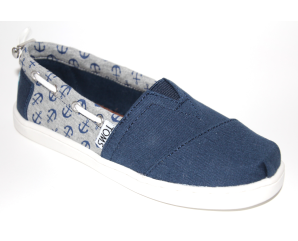 Toms Bimini Jersey Anchors Canvas Blå